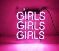"""Bira Neon Burcu Pembe Kızlar için Ev Yatak Odası Pub Otel Plaj Eğlence Oyun Odası Dekor 12 """"x 9.8"""""""
