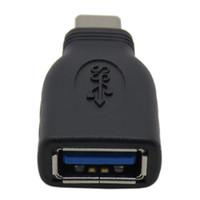 Yeni 50 ADET USB 3.1 C Erkek USB 3.0 A Kadın otg Adaptörü Dönüştürücü USB Tip C Siyah ücretsiz kargo