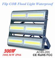 300W Yüksek Verimli Lineer COB LED Projektörler IP66 Su Geçirmez Ultraslim Flip LED Sel Işık 100lm / w Süper Parlak Tünel Işık AC85-265V olarak
