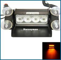 4 LED Strobe Flash Warning EMS Car Light Flashing Firemen Fog Red Free Shipping
