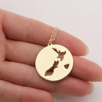 Новая Зеландия Страна Ожерелье Окленд Австралийские Путешествия Сувенир Австралия Отдых Кулоны Ожерелья Женщины Подвески Свинца