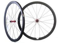 700C 38mm 깊이 25mm 폭 탄소 바퀴 도로 자전거 EVO 똑 바른 끌어 당기는 허브, U 자 모양 변두리를 가진 관 탄소 탄 바퀴 세트