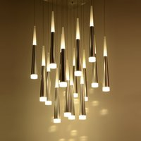 Art Meteor Shower LED Cone Ceiling Pendant Light Restaurant ...