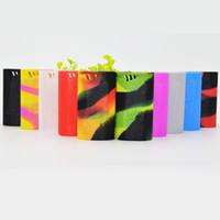 Os mais recentes alienígena 220W Silicone Case Box MOD capa de pele de gel de sílica Bag Bolsa antiderrapante escudo protetor 10 cores de alta qualidade Hot venda DHL