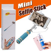 Foldable Super Mini Wired Selfie Stick Handheld Extendable M...