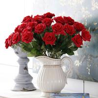Neue Seide Künstliche Rose Blumen Bouquet Multicolor Scrapbooking Blume Für Hochzeit Party Hochzeit Auto Dekoration ZA2414