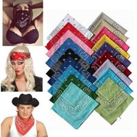 Novelty Paisley Design Bandana Poliéster Algodão Magic Anti-UV Headband Hip Hop Multifuncional Wristband Headscarf CCA6636 10000pcs