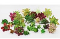 النباتات الاصطناعية مع إناء بونساي الاستوائية الصبار وهمية النباتات عصاري بوعاء مكتب ديكور المنزل زهرة وعاء WA3741