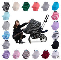 Multifunction Stretchy Infinity Scarf Wrap Baby Car Seat Cov...