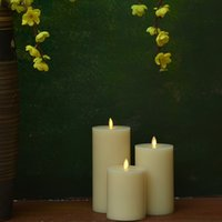 the best decoration luminara candles fireless moving wick led candles with flat top for promotion