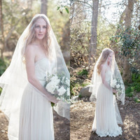 Потрясающие 2016 белый / слоновая слоновая слоновая слоя два слоя Bridal вуалии дешевый вальс длина свадьбы на заказ на заказ China EN11229