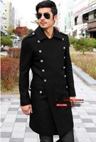 Man the spring and autumn period and the new business retro big yards sheep woolen cloth of England trench coat   S-6XL