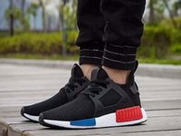 Newest NMD_XR1 OG balck white blue red Runner Primeknit Orig...