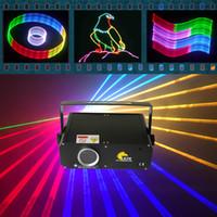 Mini laser 1W RVB 2D / 3D avec animation de faisceau laser de carte SD pour disco / dj / stade / ktv / pub / fête / projecteur d'éclairage de mariage de laser