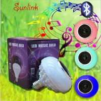 7 colors changing available 5W 6500K- RGB speaker light bulb ...