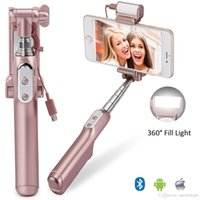Selfie Stick, Bluetooth Selfie Stick with 360 Degree Led Fil...