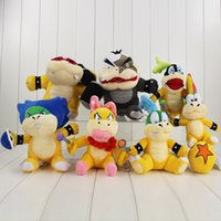 7pcs / set Super Mario Bros Poupée en peluche Toy Wendy LARRY IGGY Ludwig Roy Morton Lemmy Koopa 15-20cm