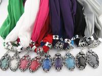 Novo design gota Pingente Cachecol Colar Contas Borla Lady Charme jóias Cachecóis para as mulheres