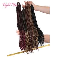20-дюймовая богиня открывает волосы наполовину прямые половинные волны косы Синтетические волосы наращивание волос 24strands / шт. Faux locs вязание крючком