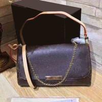 61bab2edc403 FAVORITE plaid shoulder bags women Paris luxury brands chain crossbody bag  Genuine Leather handbags designer purse high quality