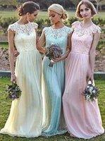 Vestidos Damas de Honor Chic 민트 그린 신부 들러리 드레스 컨버터블 긴 시폰 Bridemaid 드레스 2016 웨딩 파티 가운 이브닝 드레스