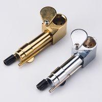 DHL 3.9 인치 황동 프로토 파이프 기화기 황금 / 실버 컬러 도구와 담배 휴대용 파이프 담배 오일 파이프 숨겨진 보울 휴대용 금속 흡연 파이프
