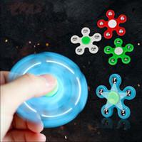 Gyro Finger Fidget Spinner EDC Mão De Plástico Para O Autismo / TDAH Ansiedade Stress Relief Brinquedos Foco presente mão spinner Brinquedo Handspinner