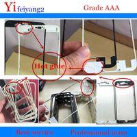 20pcs HOT Glue AAA qualità sostituzione cornice anteriore per LCD per iPhone 5 5 s 5c 6 6 s 7 plus parti telaio centrale nero bianco