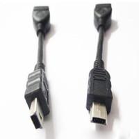 Оптовая продажа мини 5-контактный кабель OTG кабель mini 5 контактный разъем для USB женский кабель-адаптер ZZY511 по цене producter DHL бесплатно