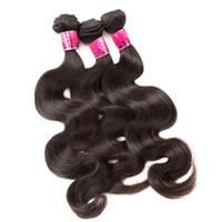 4 PCS / LOT Couleur Naturelle Colorable Dyeable Cheveux Brésiliens Bundles 100% Corps Humain Vague Extensions De Cheveux Trame De Cheveux Greatremy Drop Shipping
