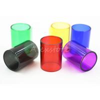 Pyrex Vervanging Glazen buis Kleurrijke Vervangbare Caps Mouwbuis Voor TFV8 Big Baby Coil RBA Tank Atomizers