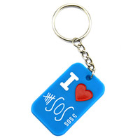 Hot Sell 1PC Ink- Filled Colour 5SOS Silicone Keychain Great ...