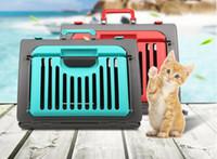 pet авиации ручной корзины Pet путешествия клетка котенок собака перевозчик автомобиль портативный складной щенок кошка клетка собака полета чехол bedca