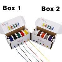 100m UL 1007 28AWG 10 couleur Mix paquet boîte Fil électrique par câble ligne aérienne cuivre PCB fil