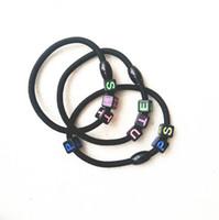 Kopf Hair Seil Ring Haarschmuck Telefon Gummi Stirnband Haar Clip Ringe Zubehör Mode Brief Hairbands Weihnachten Förderung Geschenk