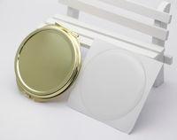 5 조각 / 로트 골드 컴팩트 거울 빈 돋보기 51mm 포켓 거울 + 에폭시 스티커 DIY 세트 18032-2 작은 트레일 주문