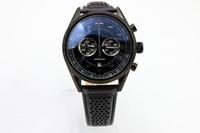 Часы с ограниченным тиражом кварцевые часы для мужчин хронограф Flyback из нержавеющей скелет кожаный ремешок калибр 36 часы бесплатная доставка мужские часы
