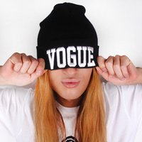 New Fashion Cuffs Winter Beanie Hip- Hop Women Hat Gorro VOGU...