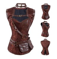 Lady Brown Steampunk Corset con chaqueta