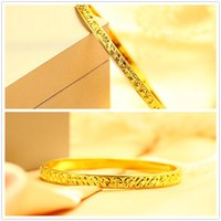 24K Gold Plated Bangles Fine Jewelry New Style Size Adjustab...