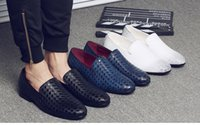 Genuine Leather Men Weaving Bottom Dress Shoes, Lace- Up Casu...