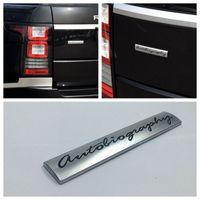 Araba Rozeti Çıkartması 3D Krom Metal Autobiography Logo Oto rover Vogue VW Için Vücut Amblem Sticker