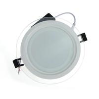 Venda quente LEVOU Luz Do Painel Recesso Regulável SMD 5630 Celing Lâmpada Rodada Spot Luzes Lâmpadas LED Painel Downlight Com Tampa De Vidro