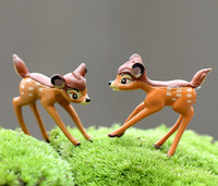 20sets shiping free mini animal artificial sika deer fairy m...