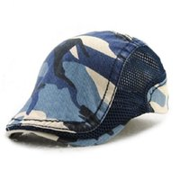 Viseiras de camuflagem da moda boina boné de algodão chapéus para homens e mulheres  chapéu de sol planas tampas unisex boinas ajustável atacado 008b231cafb