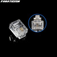 5000pcs / Los Hochwertige RJ11 6P2C 6P4C 6P6C Modularstecker Telefon Stecker RJ11 6 Pin 4 Kontakte Kristall Leiter Adapter