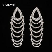 YFJEWE новый дизайн золотой цвет серьги для дамы модный бренд свадьба элегантный партия падение мотаться серьги ювелирные изделия E310