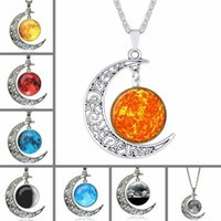 Good A+ + New hot engraved carved moon sky gemstone necklace ...
