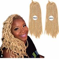 # 613, couleur noire Livraison Gratuite Dreadlocks tresses Extension de cheveux synthétiques droite 24trands / PCS Faux locs Crochet Synthetic Thraiding Cheveux