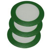 Atacado aprovado forma redonda verde silicone Mats cera anti-aderente almofadas de silicone seco Herb Food Grade Baking Mat Dabber Sheets Jars Dab Pad